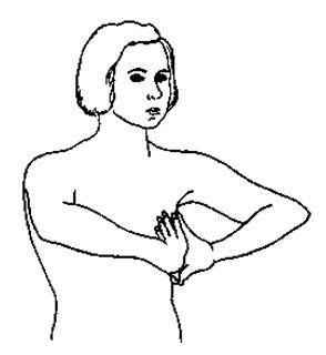 Надавить растопыренными пальцами одной руки на пальцы другой, держа ладони и за-пястья по возможности дальше друг от друга. Теперь, продолжая держать руки вместе, поверните их вовнутрь таким образом, чтобы они указывали на грудь, и продвиньте ки-сти рук вперед не разнимая их (рис. 2).    Рис. 2. Держите их в этом положении сверхрастяжения в течение минуты, легко дыша в это время. В конце минуты руки расслабляются и свободно разнимаются. Человек может снова пережить движение, нагрузку, покалывание и вибрацию. Если вы проделаете это телесно-ощущаемое упражнение, то вы сможете заметить, что ваше внимание сосредо-точено на руках из-за увеличивающейся нагрузки на них. Ваши руки находятся в состо-янии возрастающего напряжения или заряжения, что может быть объяснено так, что на них обращено все внимание.