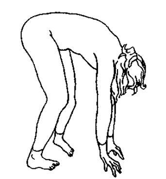 В этом упражнении единственное напряжение будет в сухожилиях подколенной ямки, когда они напряжены ноги будут дрожать.