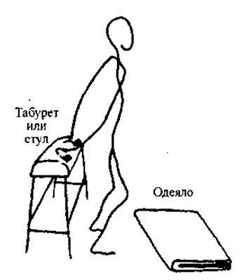Важным моментом в этом упражнении является то, что человек должен давить вниз на обе пятки, но не давать им касаться пола
